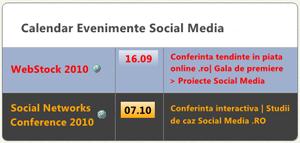 Calendar Evenimente Social Media 2010