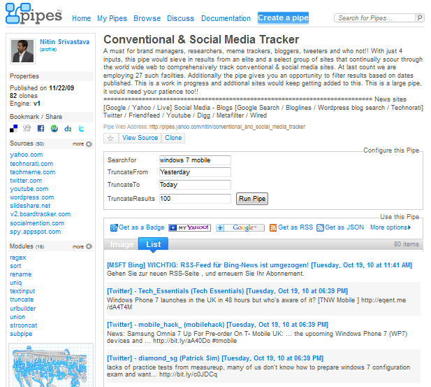 Conventional-Social Media-tracker-for-windows 7 mobile