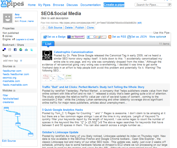 Result-SEO&SocialMediaPipe-RSS-from-Seomoz-Mashable